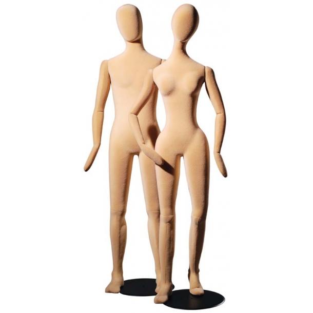 Patrick bevægelig og bøjelig mannequin HUDFARVE