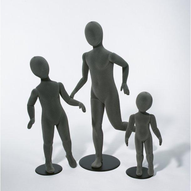 Barn 3-4 år bevægelig og bøjelig mannequin GRÅ