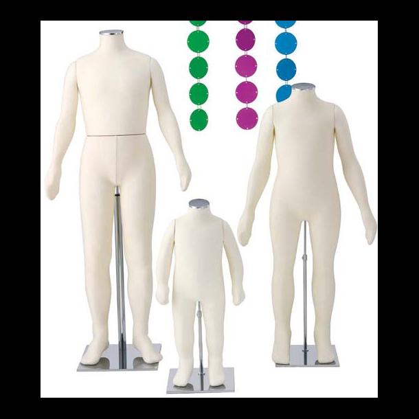Kyson 1½ år bevægelig mannequin med mesh/stof overtræk