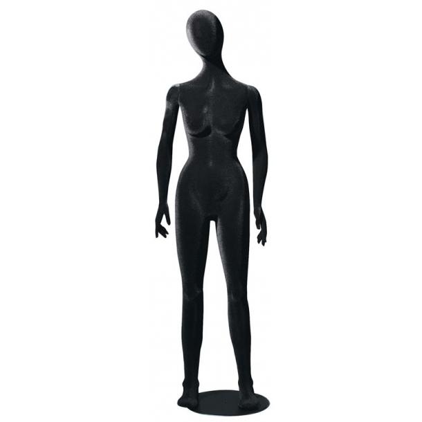 Paulette bevægelig og bøjelig mannequin SORT